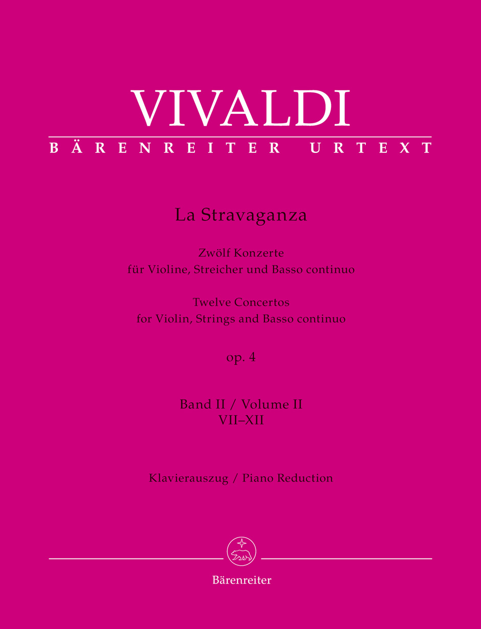 Stravaganza op 4 - 12 Concertos for Violin, Strings and Basso Continuo VOL 2 (vl,pf)